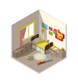 interior of children bedroom with window vector image vector image