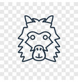 lama concept linear icon isolated on transparent vector image