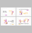 life and health safety guarantee landing page vector image