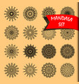 line mandala set rotary objects decorative vector image