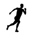 male athlete run up high jump vector image vector image