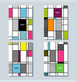 memphis desighn posters set vector image