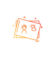 mothers day card icon design vector image vector image