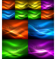 particles waves big data collection of abstract vector image