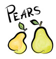 pears sign isolated pear fruit tag fresh farm vector image vector image