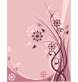 Pink floral theme vector image vector image
