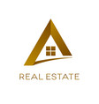 real estate logo design isolated vector image vector image