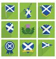 scotland icons vector image