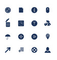 set 16 quality icons for web and mobile vector image vector image