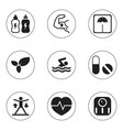 Set of 9 editable training icons includes symbols