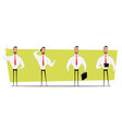 set of businessman character design vector image
