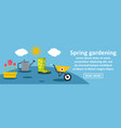 spring gardening banner horizontal concept vector image