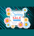 spring sale background design with beautiful vector image