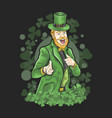 st patricks day funny shamrock vector image vector image