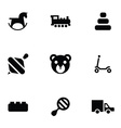 toys icons 9 icons set vector image