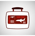 travel concept airline ticket vector image