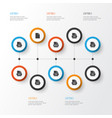 types icons set collection of otf mp4 backup vector image vector image