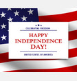 usa independence day american flag background vector image vector image