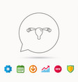 uterus icon ovary sign vector image vector image