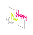 vintage happy new year 2020 background concept vector image vector image