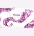 violet curtain fabric 3d realistic vector image vector image
