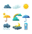 Weather Forecast Elements Set vector image vector image