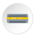 white air conditioner machine icon circle vector image vector image