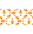 yellow fish seamless pattern vector image vector image