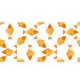 yellow fish seamless pattern vector image