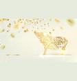 zodiac symbol with curves of ribbon confetti vector image