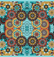 colorful ornamental floral decorative pattern vector image