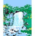Wild Jungle Waterfalls vector image