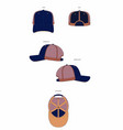 6 panel trucker cap template vector image vector image