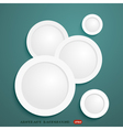 Abstract background and white community vector image vector image