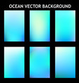 abstract blue ocean template vector image