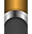 abstract silver curve center gold gray hexagon vector image vector image