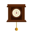 antique watch time isolated icon vector image vector image