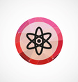 atom circle pink triangle background icon vector image vector image