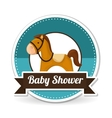 baby shower with toy design vector image vector image