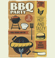 bbq party poster vector image vector image