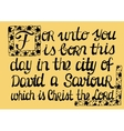 Biblical text highlighting the capital letter Now vector image vector image