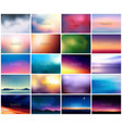 big set of 20 horizontal wide blurred nature vector image vector image