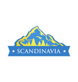 blue logo of scandinavia vector image vector image