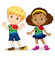 Boy and girl from South Africa vector image vector image