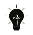 bulb light idea block style icon vector image vector image