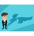 Businessman superman shadow vector image