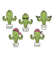 cactus show muscle biceps color set printable vector image vector image
