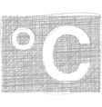 Celsius Freehand Symbol vector image vector image