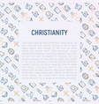 Christianity concept with thin line icons