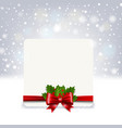 christmas banner with holly berry and poinsettia vector image vector image